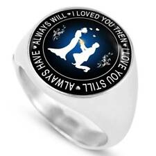 Valentines Day Romantic Inspiration Signet Rings - Husband and Wife Gift Ideas