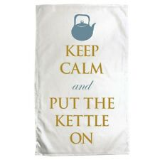 Tea Towel Keep Calm and Put The Kettle On White 70 x 50cm