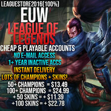 League of Legends Account LoL EUW Unranked Smurf Lvl 30 All Champs Skins