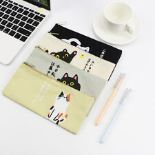 Creative Cat Cartoon Zipper Pen Pencil Case Storage Bag Pouch Stationery Gifts