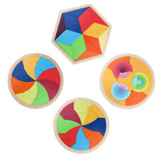 Children Educational Toy Colorful Wooden Brain Training Tangram Puzzle Toys