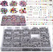 105pcs/set Mixed Bulk lots Body Piercing Eyebrow Belly Tongue Bar Ring Jewelry