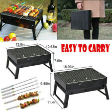 Barbecue Grill Portable Foldable BBQ Stand Charcoal Shelf Outdoor Hiking Camping