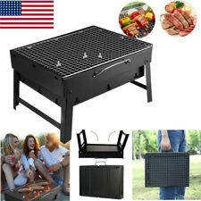 Fold Barbecue Charcoal Grill Stove Stainless Steel BBQ Patio Camping Hiking USA