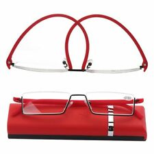 Ultralight Portable Semi Rimless Half Frame Reading Glasses Reader Eyeglasses