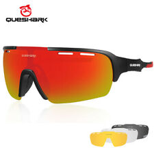 2019 Queshark New Cycling Glasses Polarized Bicycle Goggles Racing Eyewear 4 Len