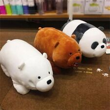 10'' We Bare Bears Panda Plush Doll Animal Cute Grizzly Ice Bear Lying Plush Toy