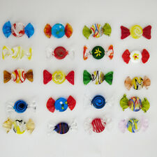 12/24pcs Vintage Murano Glass Sweets Candy Easter Decorations Kids Ornament  ☆