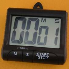 LCD Digital Kitchen Timer Count-Down Up Clock Loud Alarm Black Red Blue Large/