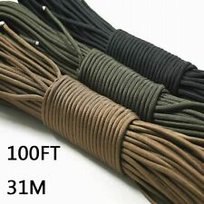 Paracord 550 Parachute Cord Lanyard Rope Mil Spec Type III 7 Strand 100FT 31m Cl