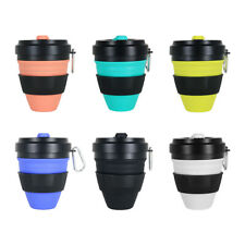 450ml Silicone Folding Cup Outdoor Portable Telescopic Coffee Water Cup #VIC