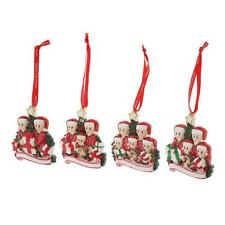 Pack of 1 Resin Christmas Tree Hanging Decorations 2-5 Family Members Pendant