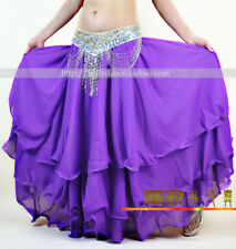 NEW Belly Dance Big Three layers Skirt Costume 9 Colors