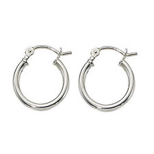 Sterling Silver Small Thin Hinged Hoop Earrings 2mm or 3mm x 10mm - 70mm