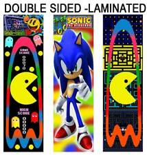 PACMAN / SONIC The HEDGEHOG FUN BOOKMARKS Party Favors Game Book Marks for Kids