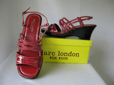 Womens Red WIDE WIDTH sandal wedge shoes sizes 7-11 New