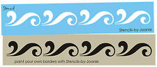 Scroll Border Design STENCIL Shabby Cottage Swirl Floral Wall Art Easy U Paint