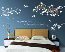 Wall Decor Decal Sticker Removable tree branches birds