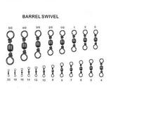 Black Brass Barrel Swivels Sea / Coarse Fishing / Carp