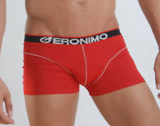 Mens Underwear Geronimo Stylish Micro Boxer Hipster HOT RED