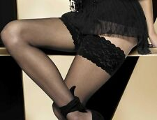Sensuous Sheer Lace Top Hold-ups - Gatta - stockings