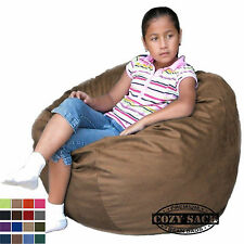 Kids Bean Bag Chair Sizes 2' includes Safety Zipper by Cozy Sack Factory Direct