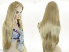 Extra Long Cher Style Premium Quality Blonde Grey Brunette Red Straight Wigs