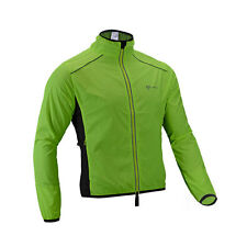Tour de France Bike Wind Coat Rain Coat Jacket Long Sleeve Cycling Jersey Green