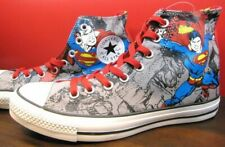 NEW CONVERSE ALL STAR DC COMICES BATMAN SUPERMAN SUPER HERO GREY CHUCK TAYLOR HI