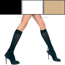 Sexy Knee Hi Stockings Opaque Solid Plain High Trouser Socks Halloween Hosiery