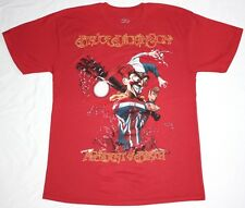 BRUCE DICKINSON ACCIDENT AT BIRTH'97 IRON MAIDEN HEAVY METAL NEW RED T-SHIRT