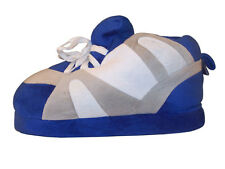 Happy Feet Slippers, Blue/Gray and White Color, Sizes Small or Medium, N.W.T.