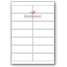 14 Per Page Blank Transparent Polyester Waterproof A4 Clear Labels Label Planet®