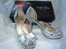 ISABEL TOLEDO Payless Silver Bow Dress Shoe Pump BNIB