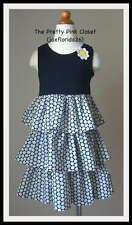 Gymboree Bee Chic Black Tank Tiered Dress NWT 6 7
