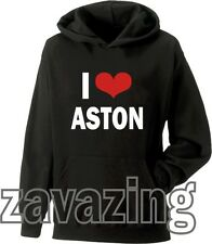 I LOVE ASTON MERRYGOLD KIDS BLACK HOODIE JLS ORTISE JB MARVIN X FACTOR HEART