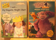 Magnetic Height Chart, 2 designs, with 28 magnets and 16 stickers, up to 150cm