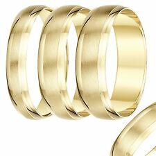 Brand New 9ct Yellow Gold Heavy D Shape Designed Wedding Ring Band