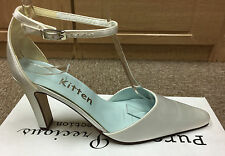 Ivory satin bridal bridesmaid shoe All Sizes 3-8 By Pure & Precious style FLORA