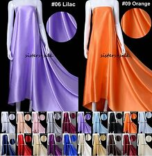 "19mm 100% Pure Silk Fabric Bridal Clothing Sewing Wide 45"" 20 Colours Sistersilk"