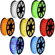 150' 2 Wire 110V Home LED Rope Light RGB Yellow Red Green Blue Cool Warm White