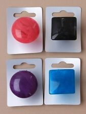 LARGE COLOURED OVAL/SQUARE & ROUND MARBLE EFFECT RESIN RING -SIZES M,N,O,P,Q,R,S