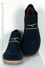 Roamers Suede Leather Round Navy Blue Mens Desert Boot UK 3 4 5 6 7 8 9 10 11 12