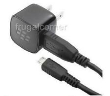 New OEM Blackberry Premium Micro USB Cable+Home/Wall Travel AC Charger Adapter