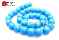 "SALE Big 8 to 20mm Blue Round TURQUOISE strand beads 15""-los29 Free shipping"