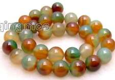 "Big 12-14mm Round multicolor agate loose Beads strand 15""-los343 Free shipping"