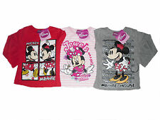 GIRLS LONG SLEEVED TOP DISNEY MINNIE MOUSE 1 2 3 4 5 6 7 & 8 YEARS OLD BNWT