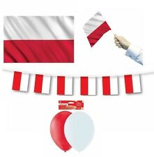 POLAND (Polish) FLAGS BANNERS BALLOONS(Partyware/Decorations){fixed £1 UK p&p}