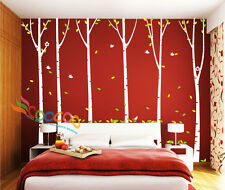 "Wall Decor Decal Sticker Removable Large 96"" Birch tree"