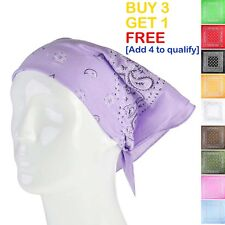 [UK SELLER] BANDANA HEAD SCARF NECK SCARF SCARVES PAISLEY MANY COLOURS